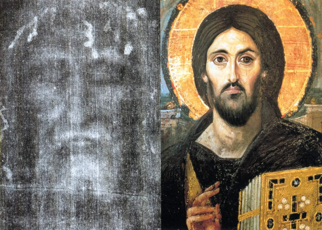 Santo Sudário e Cristo Pantocrator