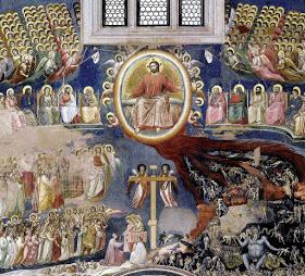 Segunda vinda será em majestade como filho de David. Juicio Final 20, Scrovegni, Giotto da Bondone