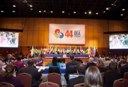 A 44ª assembleia da OEA em Assunção, Paraguai